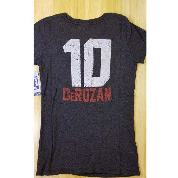 timeless design dbc79 c052b NBA Her Toronto Raptors DeRozan #10 Jersey T Shirt Boutique
